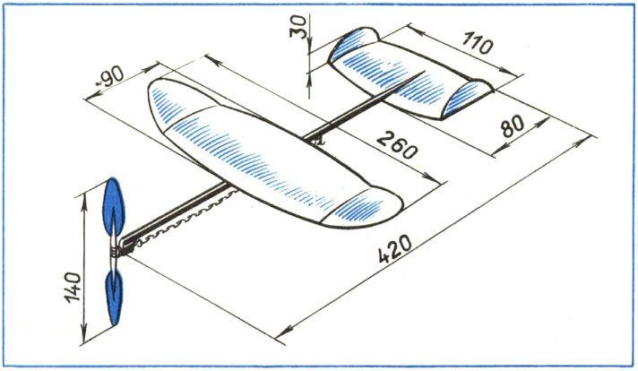 Схема самолета из пенопласта своими руками
